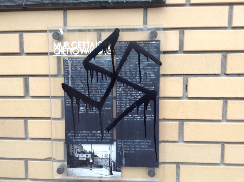 Swastica graffiti - vandalised .jpg